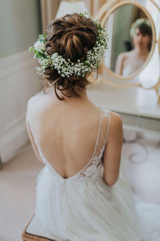 wianek ślubny z gipsówki